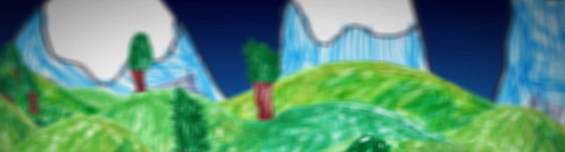 Drawing Animation Mountains Child drawing