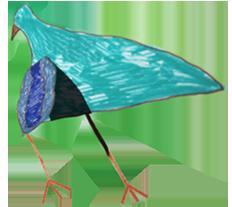 Video Animation Bird flying kids drawing